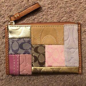 Coach change purse/card holder